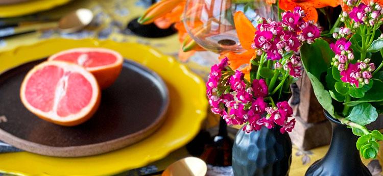 Mesa decorada com laranja | Por Lavinia Francesca