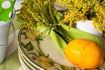 Mesa decorada com frutas | Por Lavinia Francesca