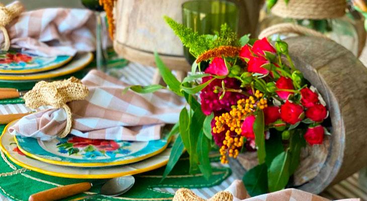 Mesa decorada de primavera - Por Lavinia Francesca